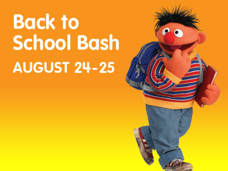 back to school bash at sesame place