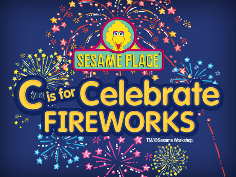 labor day fireworks at sesame place