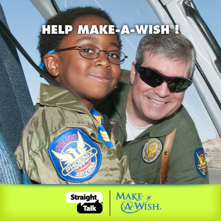 Make-A-Wish Come True with #StraightTalkWish