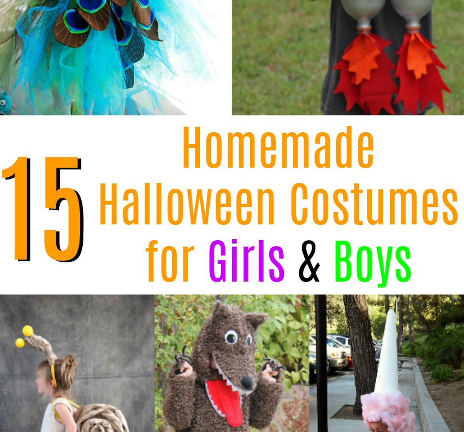 Homemade Halloween Costumes for Boys & Girls