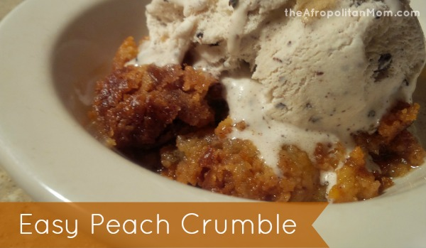easy peach crumble recipe