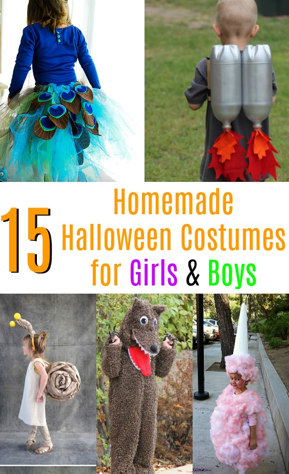 Get inspired by one of these creative ideas -  homemade Halloween costumes for girls and boys