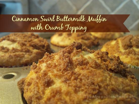 Cinnamon Swirl Buttermilk Muffin with Crumb Topping