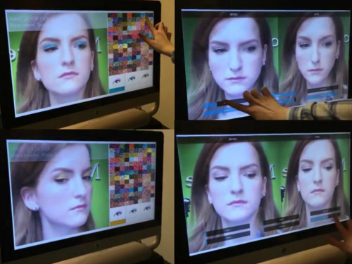 ModiFace 3D Augmented-Reality Makeup and Anti-Aging Mirror