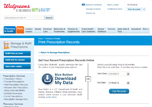 Ability to Print Prescription Records, #WalgreensRX, #shop, #cbias
