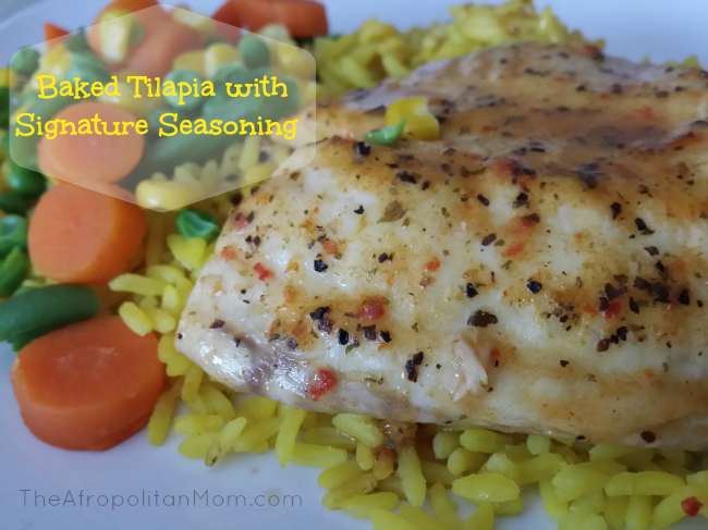 Baked Tilapia with Signature Seasoning