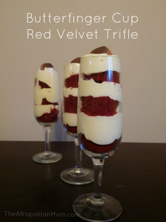 Butterfinger Cup Red Velvet Trifle