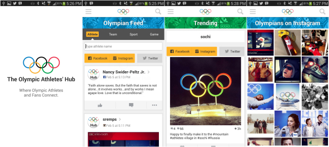 Apps For The Sochi 2014 Winter Olympics  - Olympic Athletes' Hub