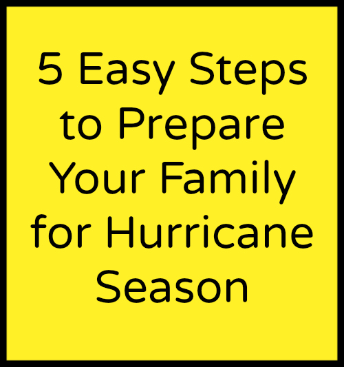 5 EASY Steps to Prepare Your Family For Hurricane Season