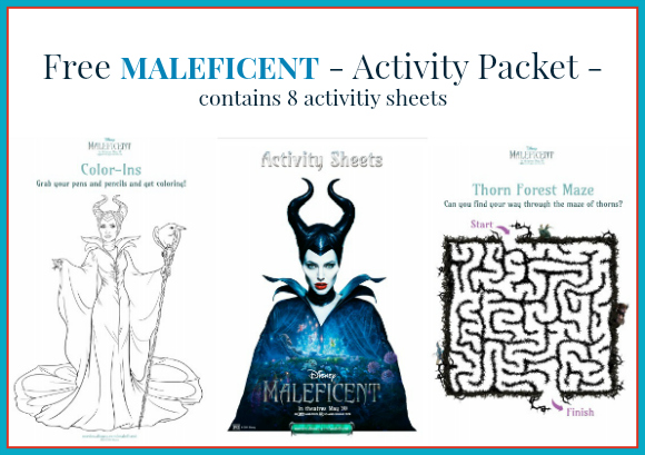 MALEFICENT - Activity Sheets + Light & Dark - Featurette