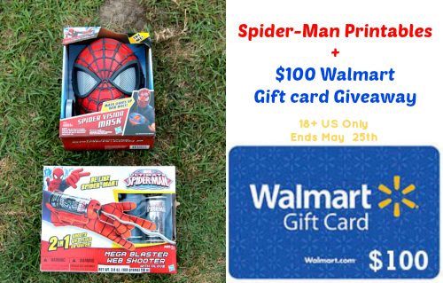Spider-Man Printables + $100 Walmart Gift card Giveaway