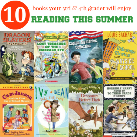 10 Books Your 3rd and 4th Grader Will Enjoy Reading This Summer #SummerReading #reading