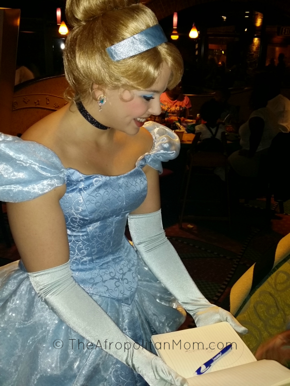 Character Dining - Cinderella  Autograph Signing at Goofy's Kitchen - Disneyland
