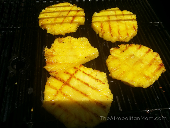 Creamy Vanilla Ice Cream with Grilled Pineapple #GoWalmart