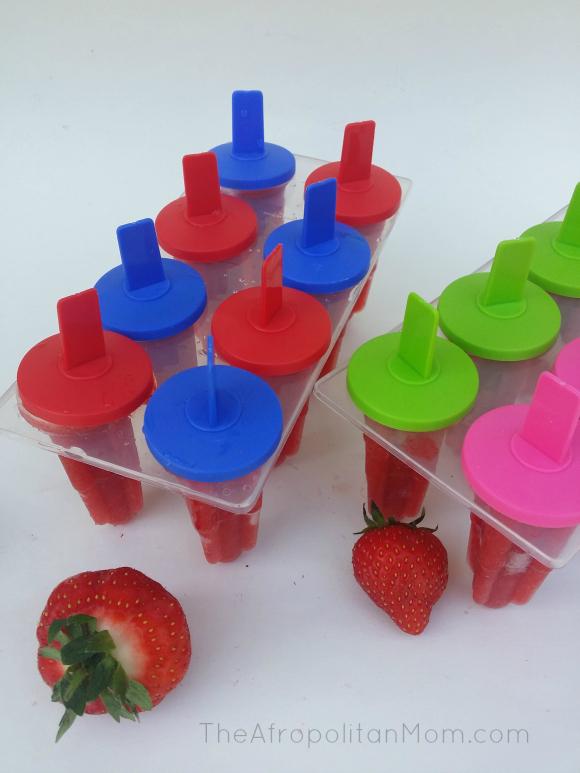 Fresh Strawberry Ice Pop