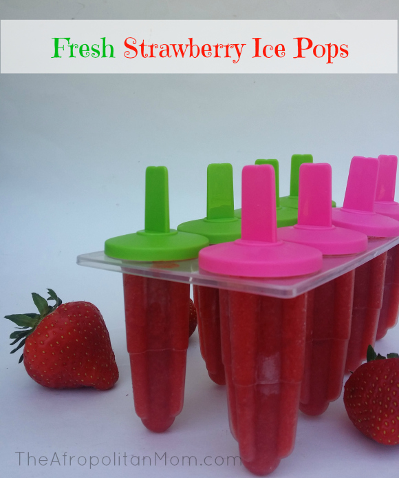 Fresh Strawberry Ice Pops