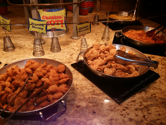 Popcorn Shrimp - Chicken Nuggets - Spaghetti at Goofy's Kitchen - Disneyland