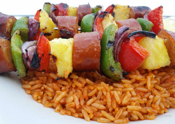 Sausage and Pineapple Kebab