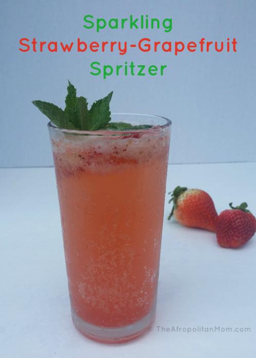 Sparkling Strawberry-Grapefruit Spritzer