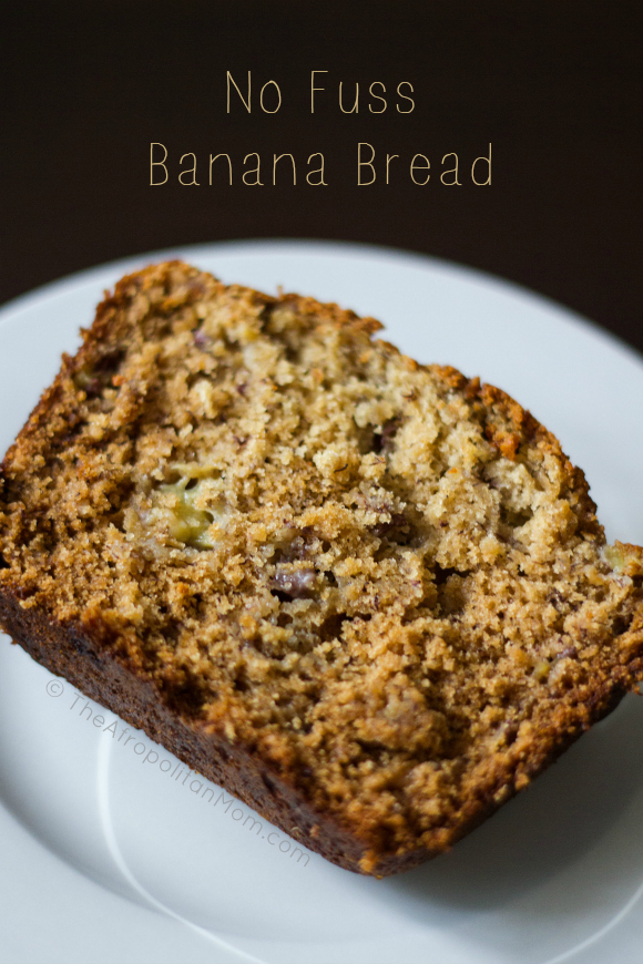 No Fuss Banana Bread