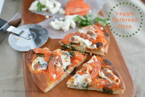 Easy Veggie Flat Bread Pizza