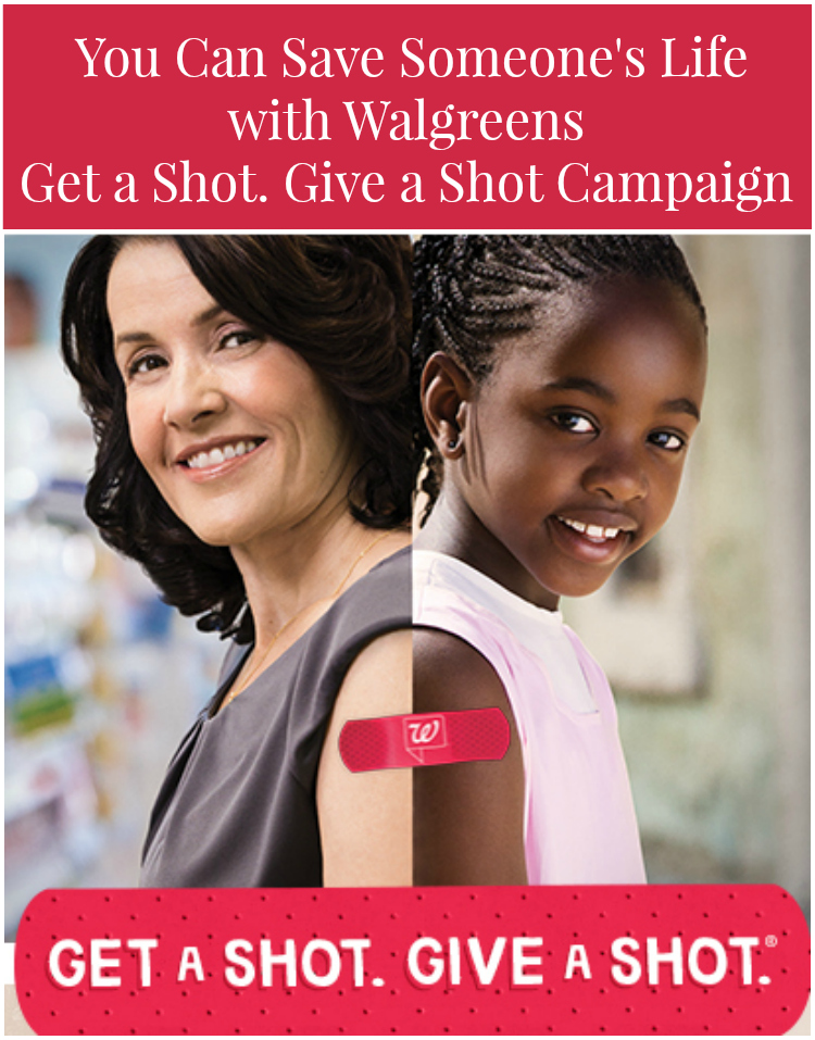 You Can Save Someone's Life  with Walgreens Get a Shot. Give a Shot Campaign #cbias  #GetAShot