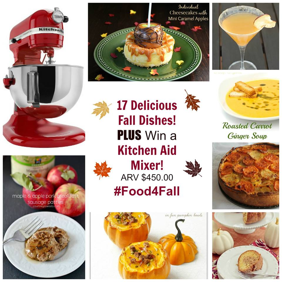 17 Delicious Fall Dishes PLUS Win a Kitchen Aid Mixer #Food4Fall