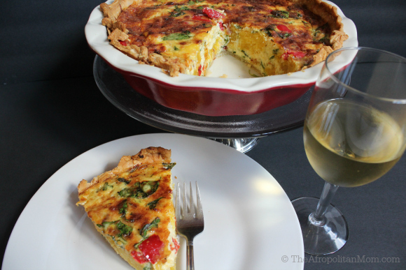 Roasted Pumpkin, Gruyère and Spinach Quiche