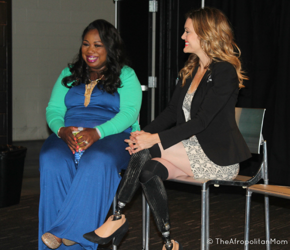 "Toyota's ""Standing O-Vation"" Award recipient Tawanda Jones and Amy Purdy"