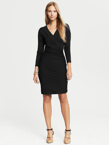 banana-republic faux wrap dress
