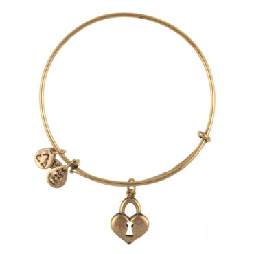 Alex and Ani Bangle Bar Key to My Heart Expandable Bracelet