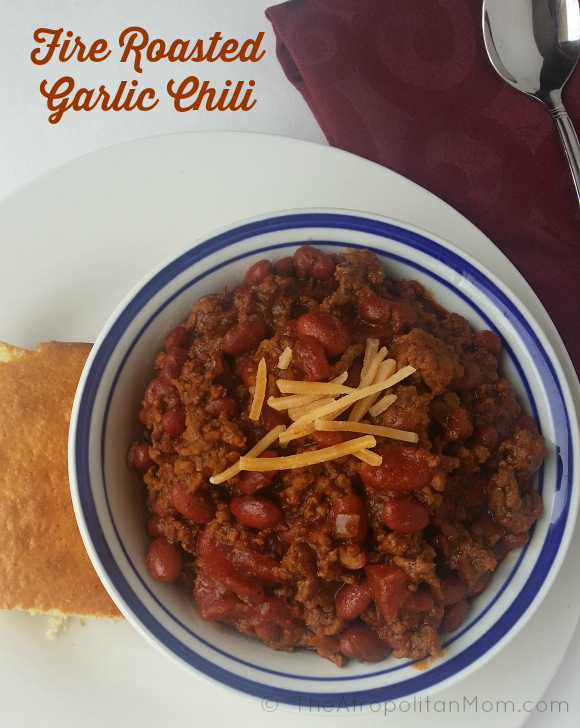 Fire Roasted Garlic Chili Recipe #MCSkilletSauce