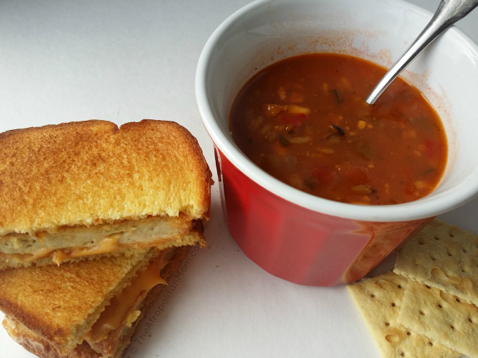 Grilled Chicken Sandwich and Campbell's Slow Kettle Soup