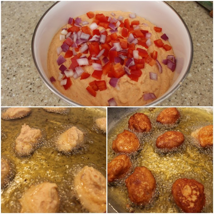 Beans Fritters - Akara - acaraje frying - how to