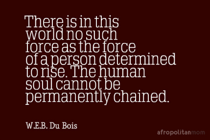 There is in this world no such force as the force of a person determined to rise. The human soul cannot be permanently chained. - W.E.B. Du Bois quotes
