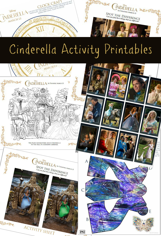 FREE Cinderella Activity Printables
