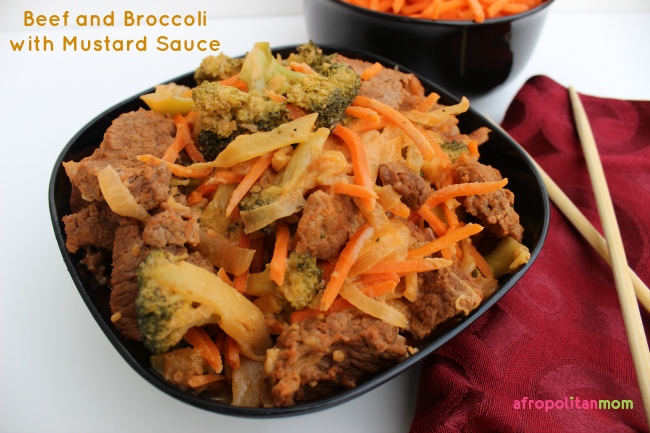 Beef and Broccoli with Mustard Sauce