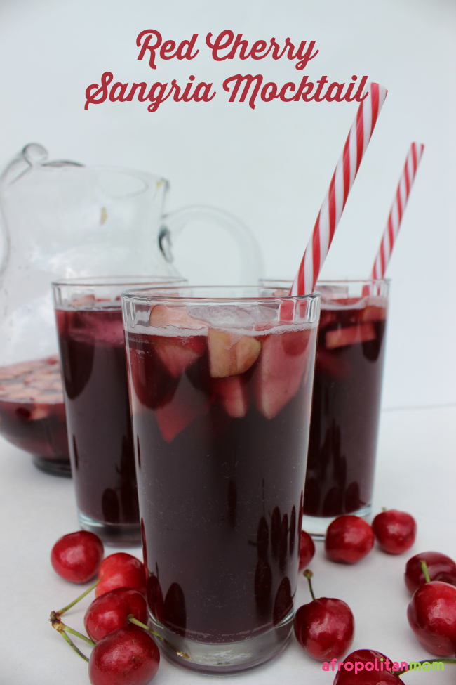 Blood-Red Cherry Sangria Mocktail #ad