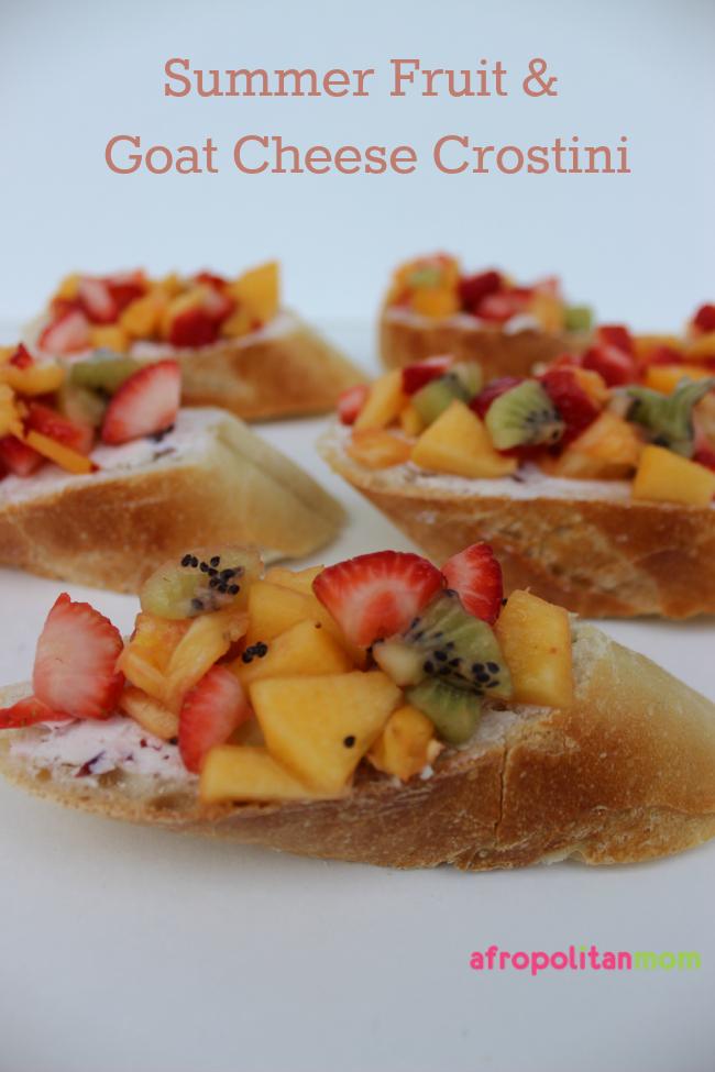 Summer Fruit and Goat Cheese Crostini-bruschetta -Joan of Arc