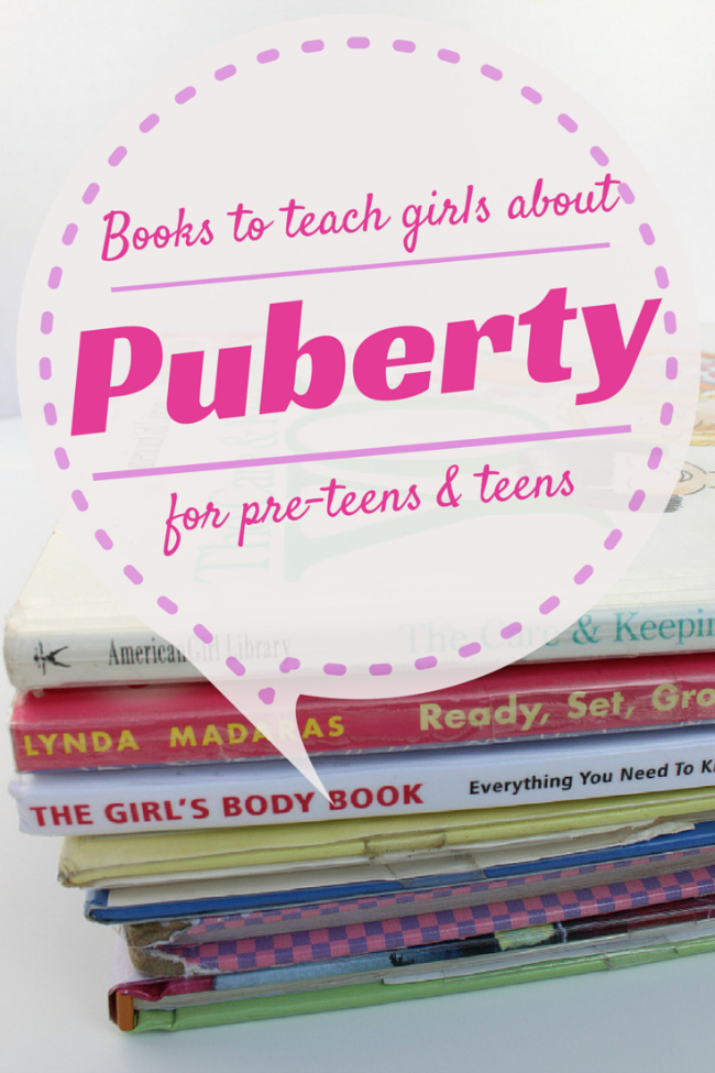 Best Puberty Books For Girls to help educate tween and teen girls on puberty and elevate the fear that comes with puberty.