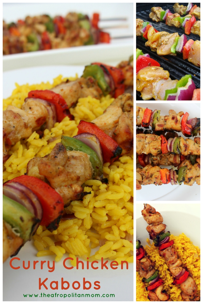 Easy dinner recipe of curry chicken kabobs - perfect for summer nights or backyard BBQs.