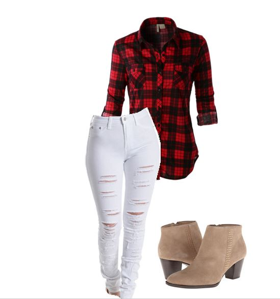 Wear White after Labor Day - white and plaid