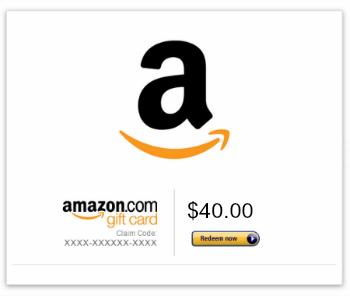 40 amazon gift card