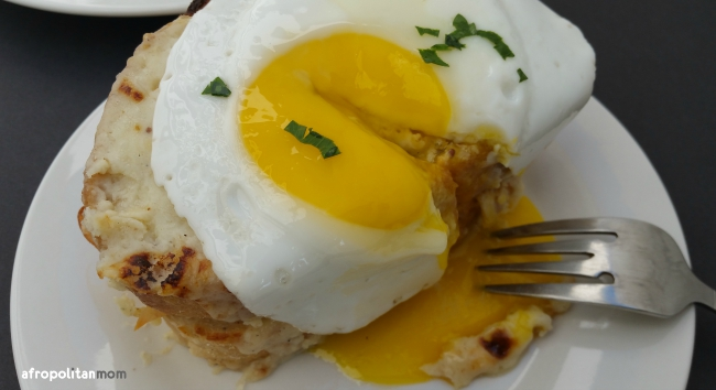 croque madame with chicken