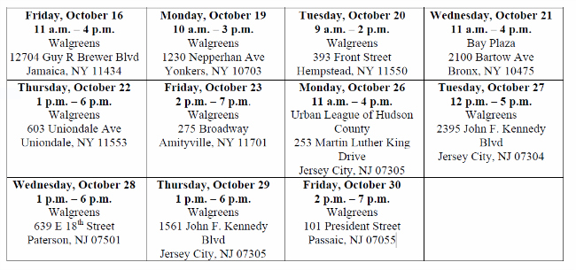 Walgreens Wellness Tour - NY-NJ Tour