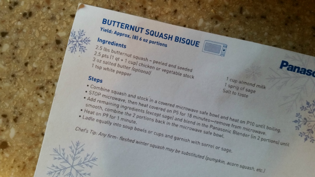 Butternut Squash Bisque Panasonic