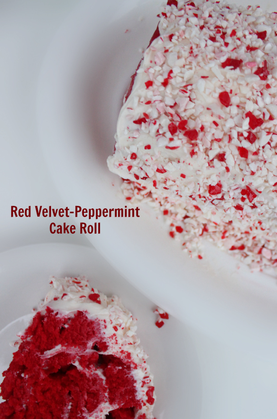 Red Velvet-Peppermint Cake Roll