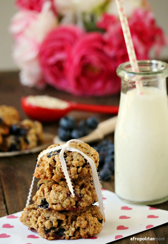 Easy Blueberry Oatmeal Cookies