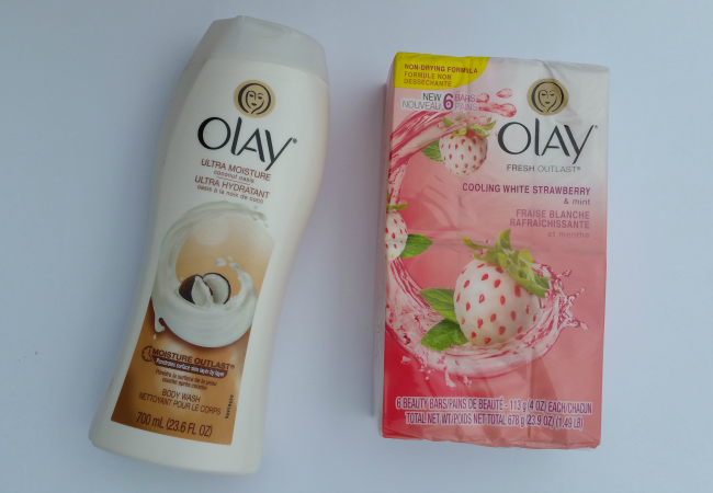 Olay body wash and bar soap