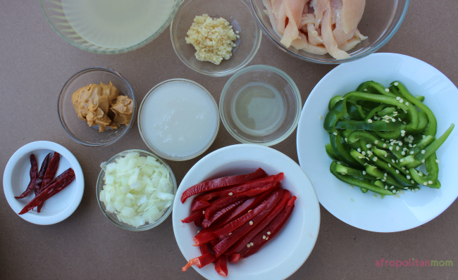 Chili coconut chicken ingredients